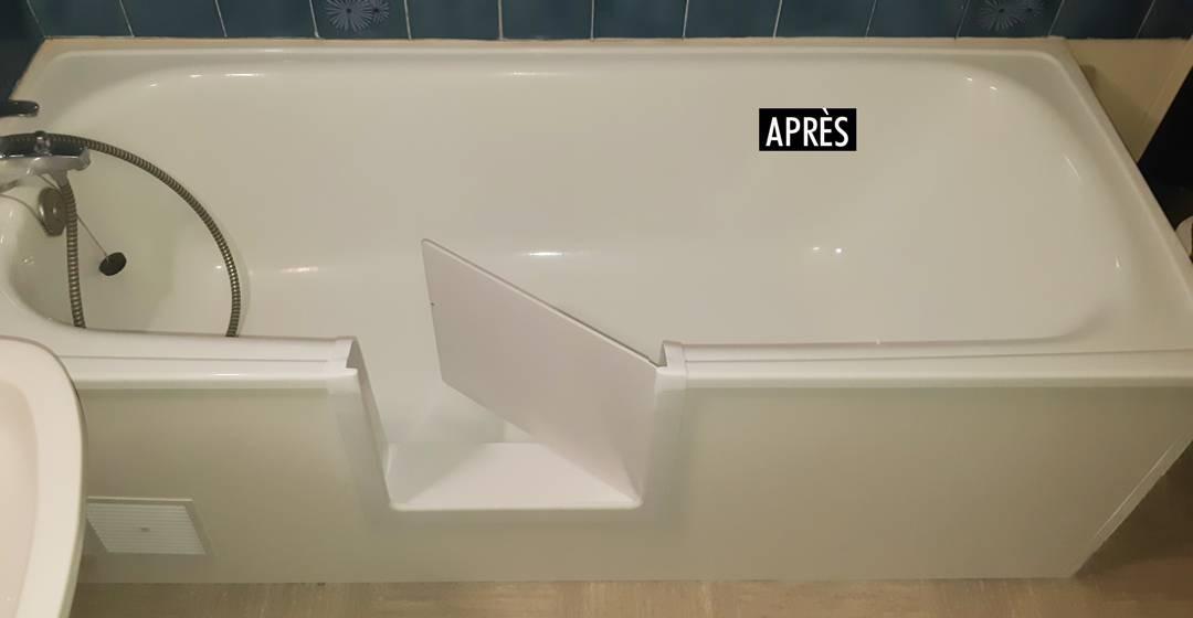 Transformer une baignoire en douche gr ce l 39 installation - Transformer une baignoire en douche ...