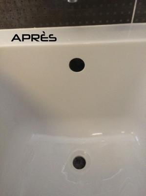 Rénovation de baignoire par ponçage puis polissage à Annecy