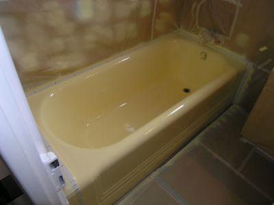 Après la rénovation de baignoires