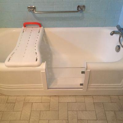 ouverture de baignoire tablier face