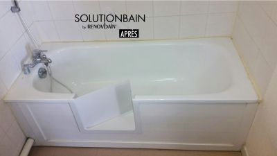 Transformation d'une baignoire en douche.